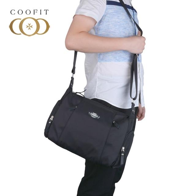 coofit Casual Messenger Bag For Men Waterproof Oxford Crossbody Bags Large  Capacity Satchel Shoulder Bag With Adjustable Strap 6890227fd75c3