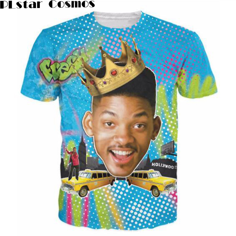 PLstar Cosmos New Arrive Summer Style So Fresh Will Smith T-Shirt Sexy tee Fresh Prince of Bel Air 3d t shirt tshirt for women m