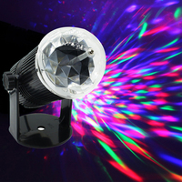 Tanbaby Auto Sound Activated 3W Mini RGB LED Crystal Ball Magic Rotating LED Stage Lights For