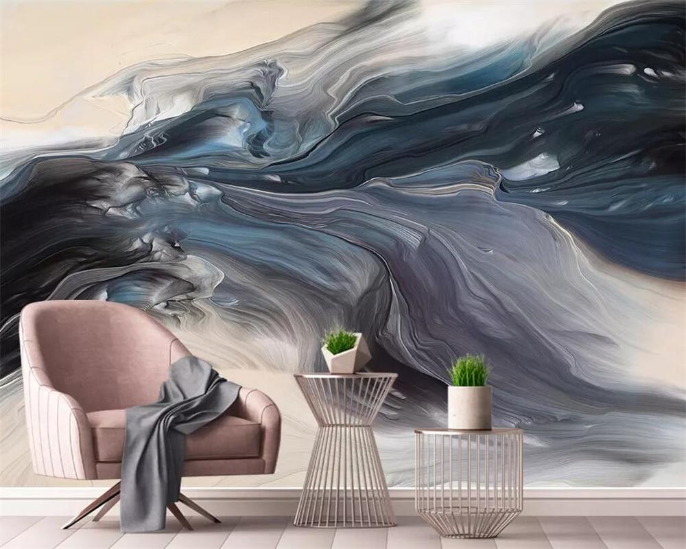 Beibehang Wallpaper Murals Abstract Dynamic Lines Texture Landscape Art TV Background Wall 3d Wallpaper Decoration Background
