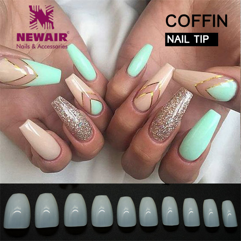 New Design Coffin Nail Tips Full Cover False Nails Long Fake Nails ...
