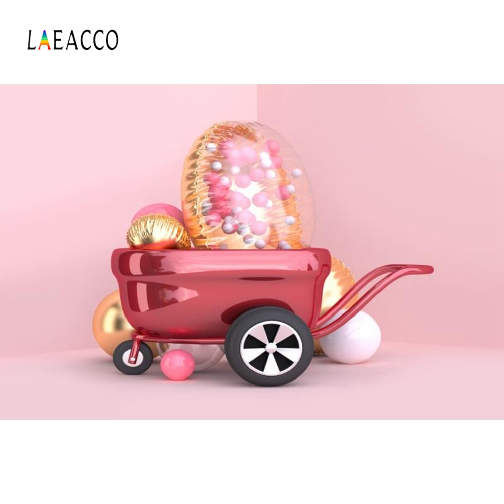 Laeacco Pink Balloon Cartoon Car Newborn Baby Portrait Photography Background Customized Photographic Backdrops for Photo Studio in Background from Consumer Electronics