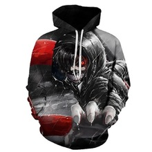 2018 New Fashion Men/Women Hoodies man Print Skulls Hooded red blue Streetwear 3d Sweatshirts Hoody hip hop Tops