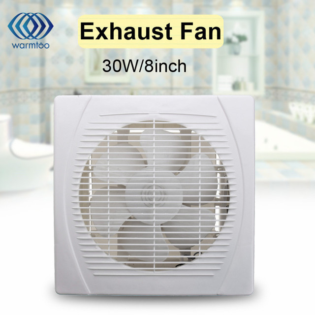 30W 8inch White Ventilation Exhaust Fan For Kitchen Bathroom Toilet Ceiling Wall  Mount Air Vent 220V