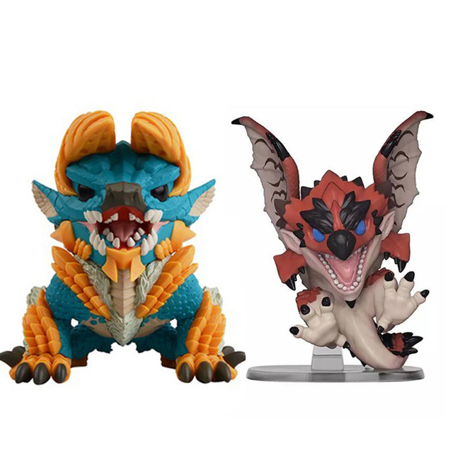 NEW 10cm Monster Hunter Rathalos Dragons Zinogre action figure Dolls Toys Monster Hunter Game