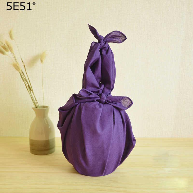 Japonês furoshiki algodão 100%/japão tradição clássica cor pura 52*52 cm/muitos usos lenço bandana/para presentes