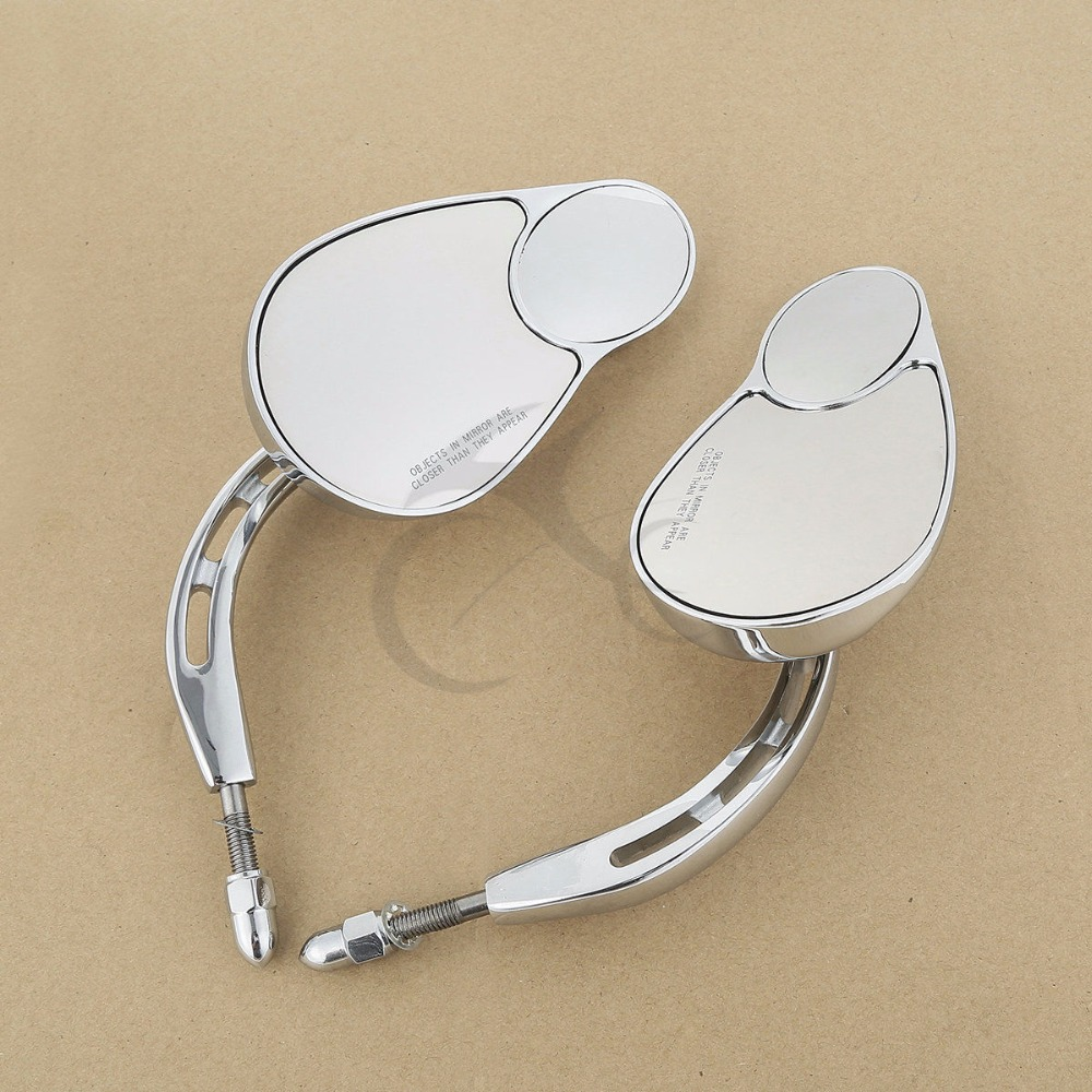 Universal 8mm Motorbike Cafe Racer Mirror For Harley Touring Road King Classic SOFTAIL DELUXE Motorcycle Accessories-in Side Mirrors & Accessories from Automobiles & Motorcycles