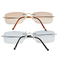 The New Unisex Bifocal Reading Glasses Metal Eyeglasses With Case