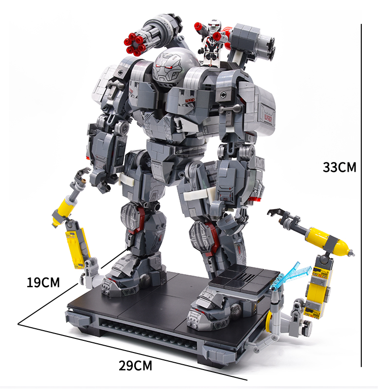 1710pcs+ War Machine Buster Marvel Ironman Avengers 4 Endgame Iron Man Super Heroes Figures Legoinglys Building Blocks Movie Toy