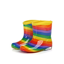 Children Rainboot Boys Girls Jelly Shoes Rainbow Colorful waterproof Boot ToddlerSpring Autumn Fashion Rubber Rainboots SH19067