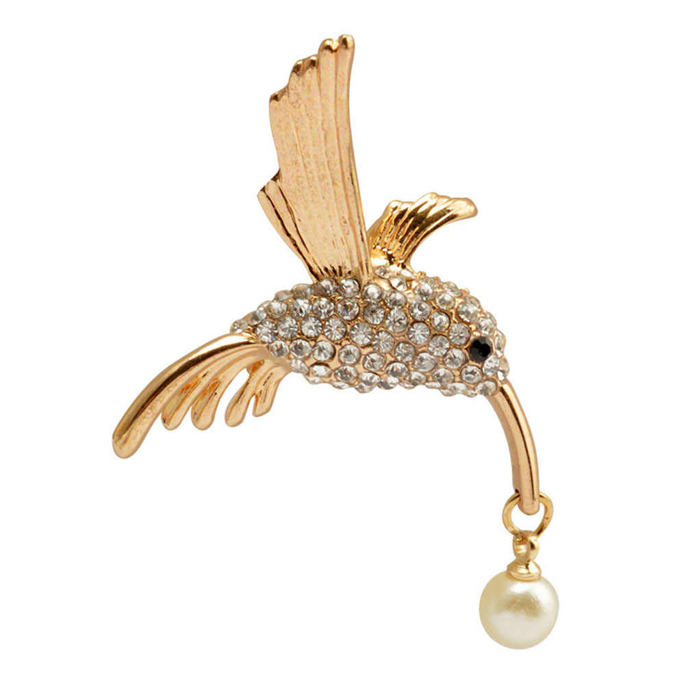 Hummingbird Bros Hewan Rhinestones Bros Jarum Breastpin Aksesoris Hadiah untuk Wanita Wanita Perhiasan Berkualitas Tinggi