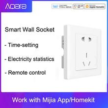 Aqara Smart Wall Socket ZigBee Wireless Wall Outlet Mijiaสวิตช์ซ็อกเก็ตทำงานสำหรับMijiaสมาร์ทHomeKits Mihome APP
