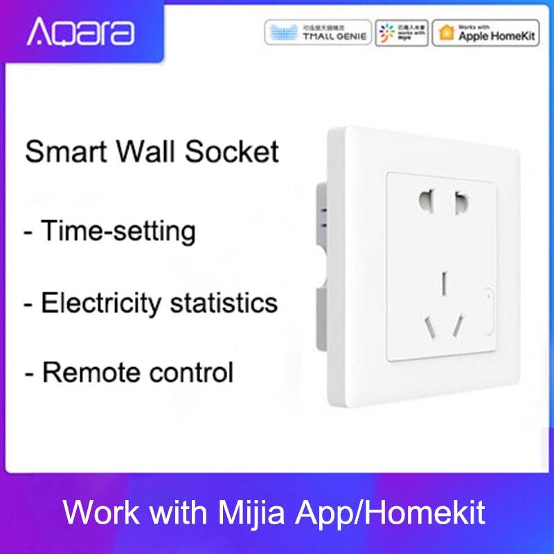 Aqara Smart Wall Socket ZigBee Wireless Wall Outlet Mijia Wall Socket Switch Work For Mijia Smart HomeKits Mihome  APP