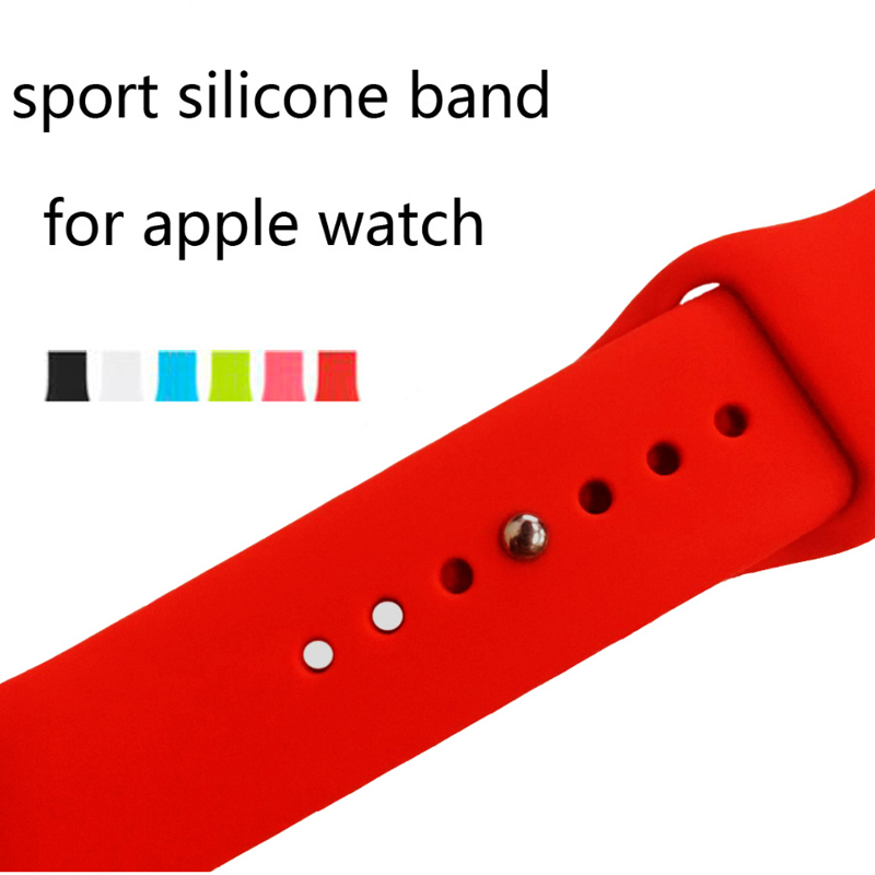 Soft Silicone Replacement Sport Band For 42mm Apple Watch Strap Series3/2/1 38mm Wrist Bracelet Strap For iWatch Sports Edition silicone replacement wrist band strap bracelet for polar v800 sport smart watch t50p drop ship