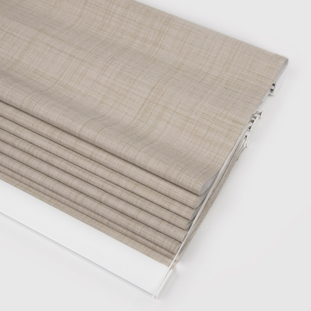 SCHRLING New Arrival Roman <font><b>Blinds</b></font> Windows Roman Curtains 100% Blackout Light shading Made to measure Roman Style For bedroom
