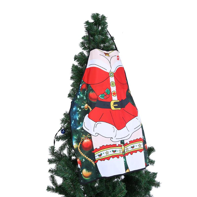 Christmas Women Cooking Aprons Funny Printed Christmas Santa Anime Cartoon Apron Kitchen Cleaning Tools