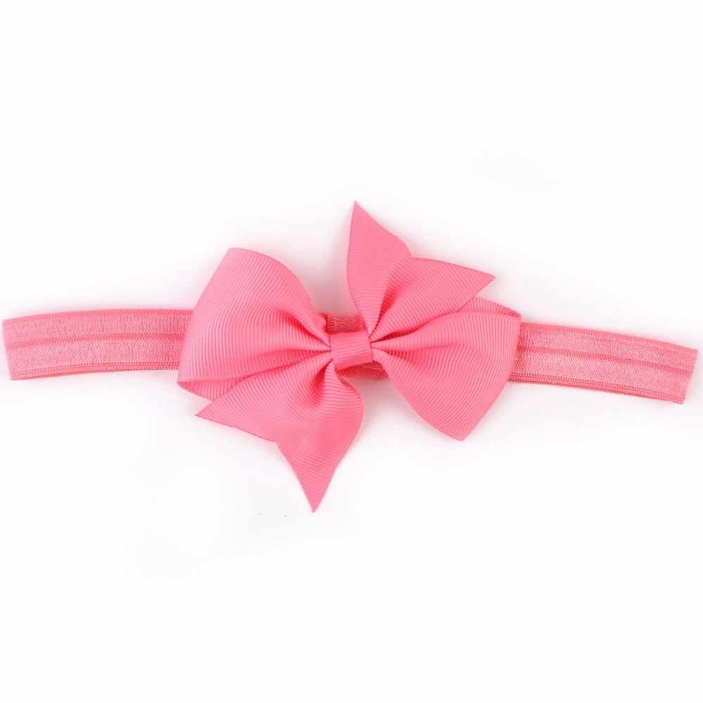 Детская повязка на голову тюрбан цветок новорожденный ободки для девочек эластичные детские повязка на голову для малыша hearband детские украшения для волос