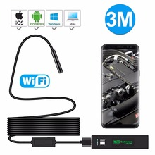 1080P HD Mini Wifi Digital camera Endoscope YPC110A With Semi Inflexible 3M USB Cable Camcorder for Android Waterproof Inspection Endoskop
