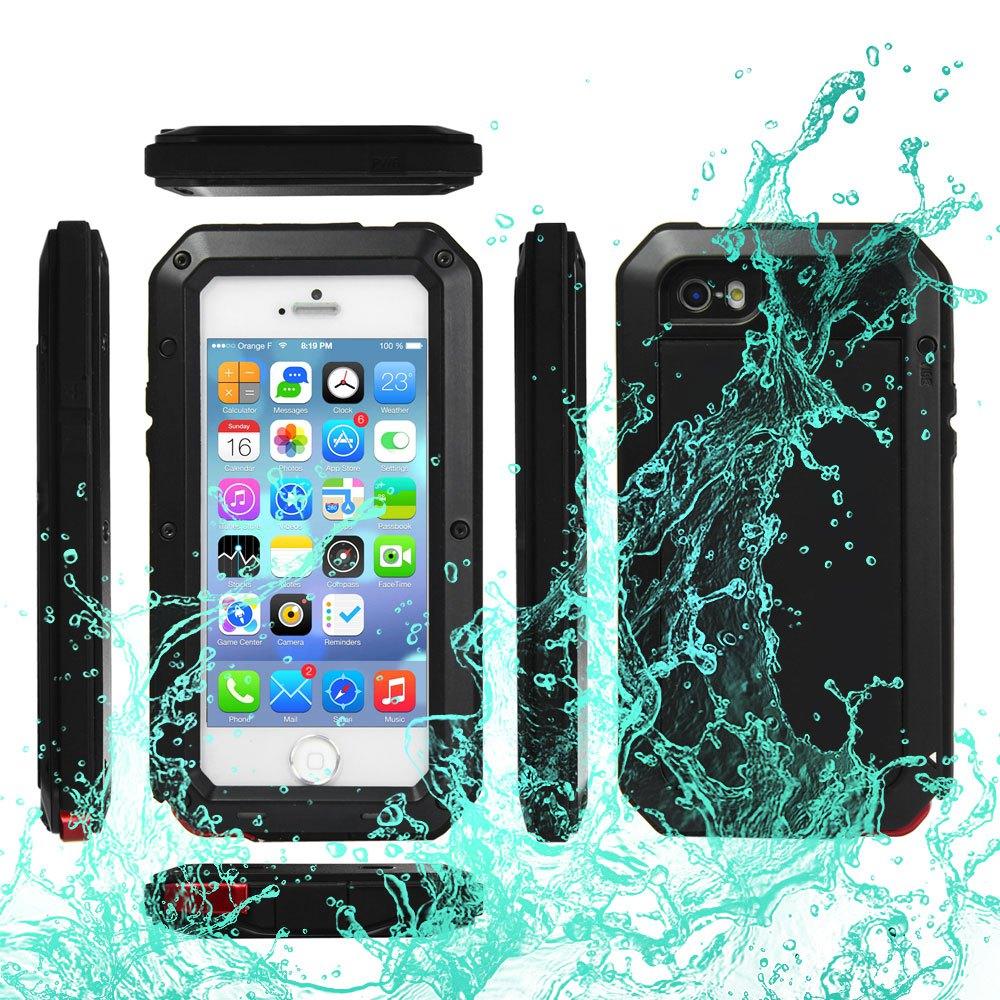 Цена за IPX6 Водонепроницаемый Противоударный Пыле Gorilla Glass Алюминиевый Металлический Корпус Обложка Защитную для iPhone 5C 5S 5 SE