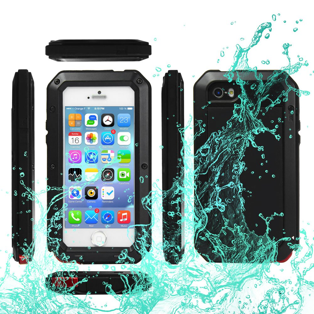 waterproof iphone 5c case ipx6 waterproof shockproof dustproof gorilla glass 2368