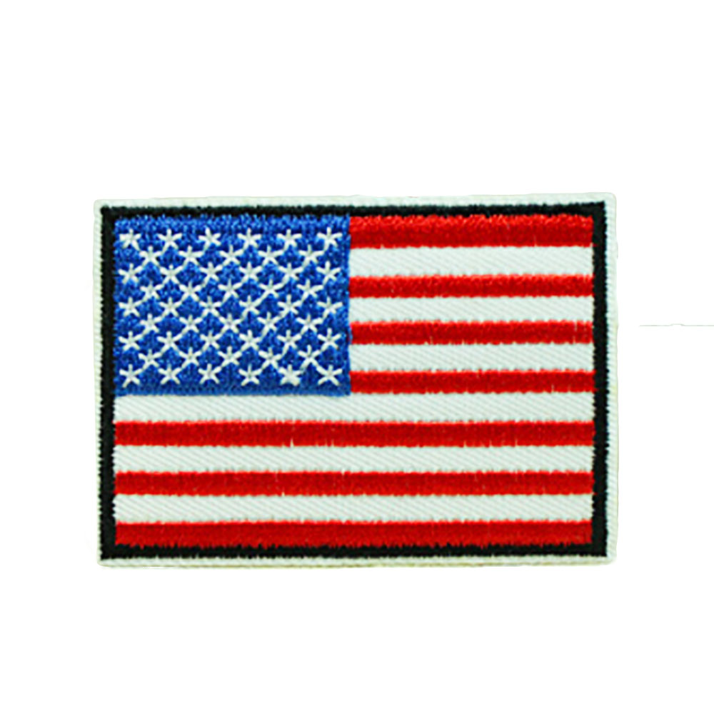 Нашивки с национальным флагом для одежды, нашивки с национальной эмблемой, нашивки с вышивкой, наклейки для одежды, нашивки с изображением страны, железные нашивки - Цвет: USA