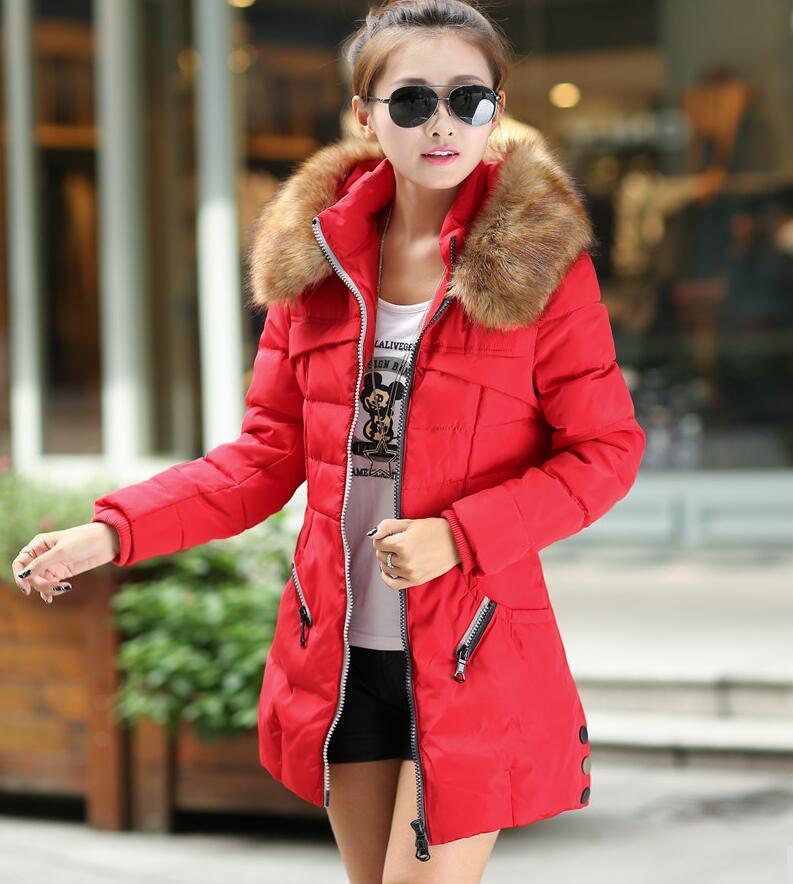 2016 Autumn & Winter Women Parka Outerwear Duck Down Jacket With Large Fur Collar Plus Size M - XXXXL Thickening Long Coat цены онлайн