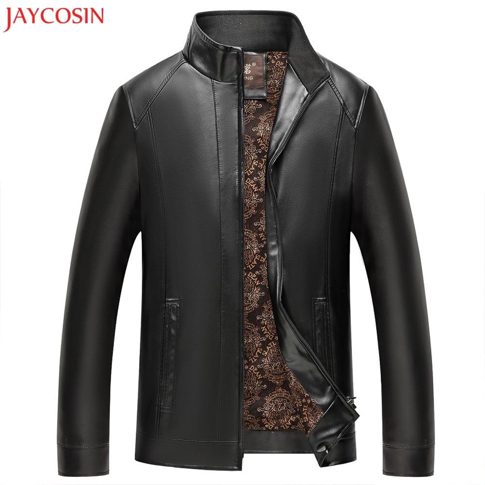 Noir En Brun Col Imitation Polyester Manteau De Tops Zipper Jaycosin  Manches Cuir Épissage Bk bw Veste Pied Hommes Z1027 Long qwPBgaS f6d2e13c577