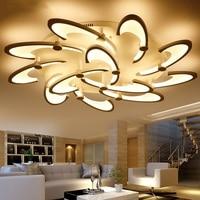 LED teto sala de estar lâmpadas Flor Atmosférica Arte Criativa Romântico Estudo Quarto Corredor Luzes de Teto iluminação Comercial|Luzes de teto| |  -
