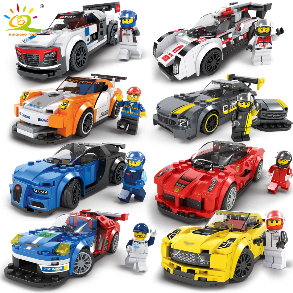 Roadster Racing Auto Geschwindigkeit Champions Auto Bausteine Kompatibel Legos Technic Stadt Figuren Erleuchten Ziegel Spielzeug Für Kinder