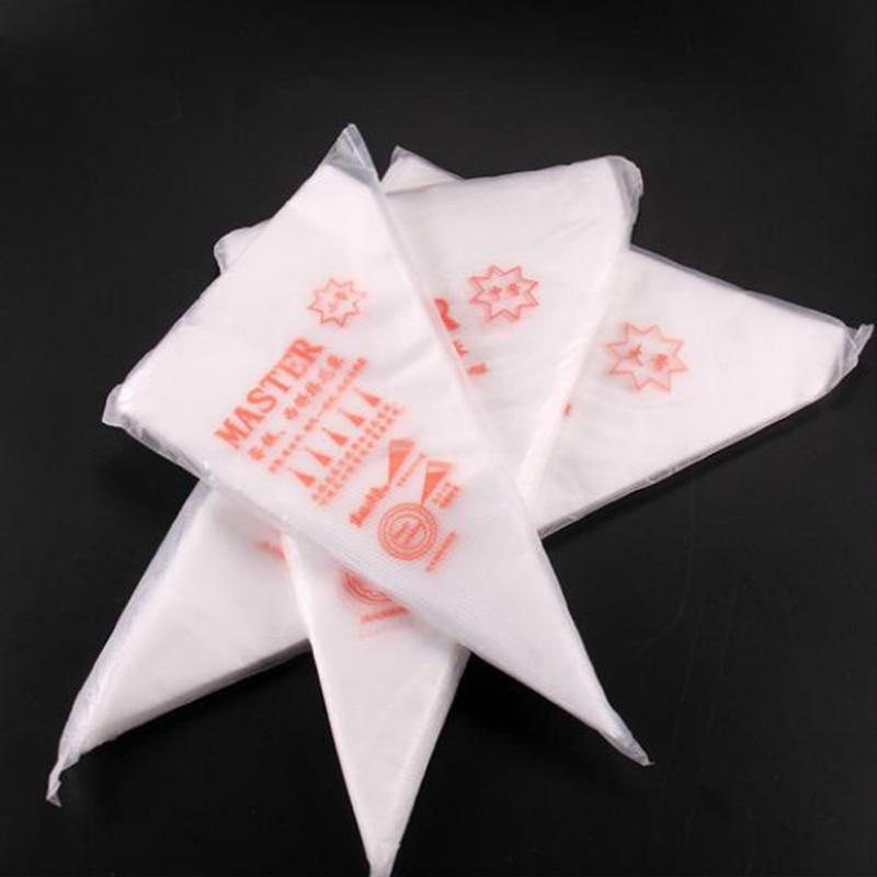 100 pièces sacs à pâtisserie jetables S/M/L taille sac de tuyauterie sacs de confiserie pour crème Fondant gâteau outils de décoration ustensiles de cuisson