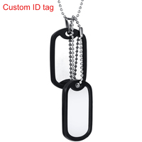 Stainless Steel Military Dog Tag Customized Name Necklace
