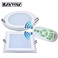 RAYWAY 6 W 12 W 18 W dim LED Tavan Paneli Işık 2.4G Kablosuz Uzaktan kumanda karartma cam tavan Downlight lambaları AC85V-265V