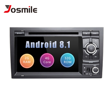 Автомобильный мультимедийный плеер 2 Din Android 8,1 для Audi A4 B6 B7 S4 B7 B6 RS4 SEAT EXEO 2002-2008 RS4 B7 радио 2008-2012 gps навигации