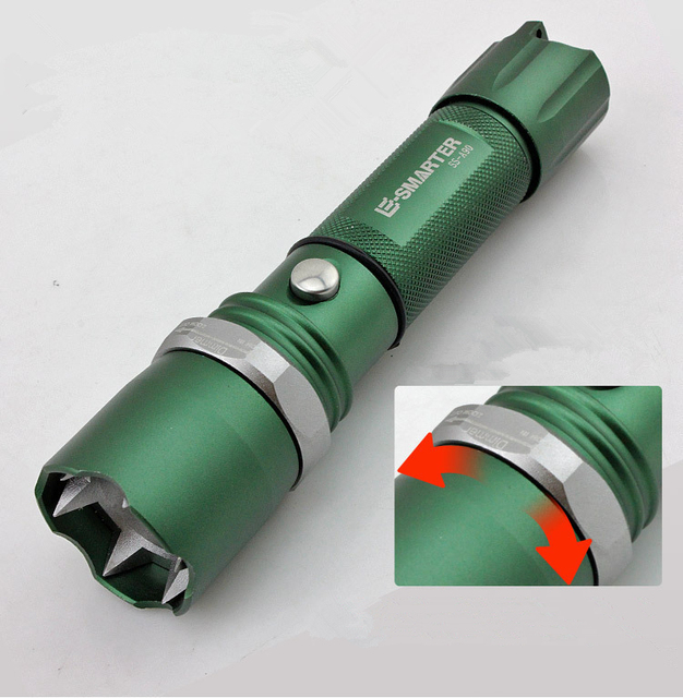 Free Shipping LED Bright Powerful LED Flashlight Tactical Flashlight Women Self Defense Supplies Self-defense Weapon Equipment