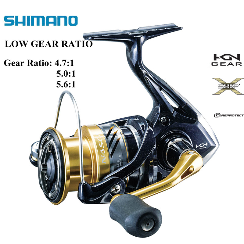 SHIMANO NASCI Original 1000 2500 C3000 4000 Low Speed Gear Ratio 4 7 1 5 0