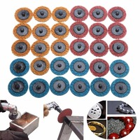 30pcs 2 50mm Roloc Roll Lock Sanding Disc Conditioning Fine Medium Coarse Polishing Pad For Abrasive