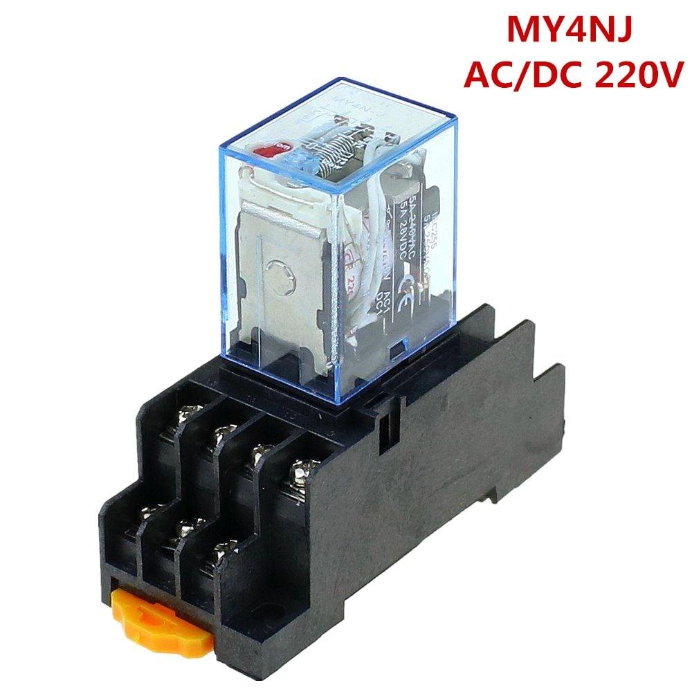 Aliexpress Com   Buy Time Relay 220v    240v Ac Coil 4pdt