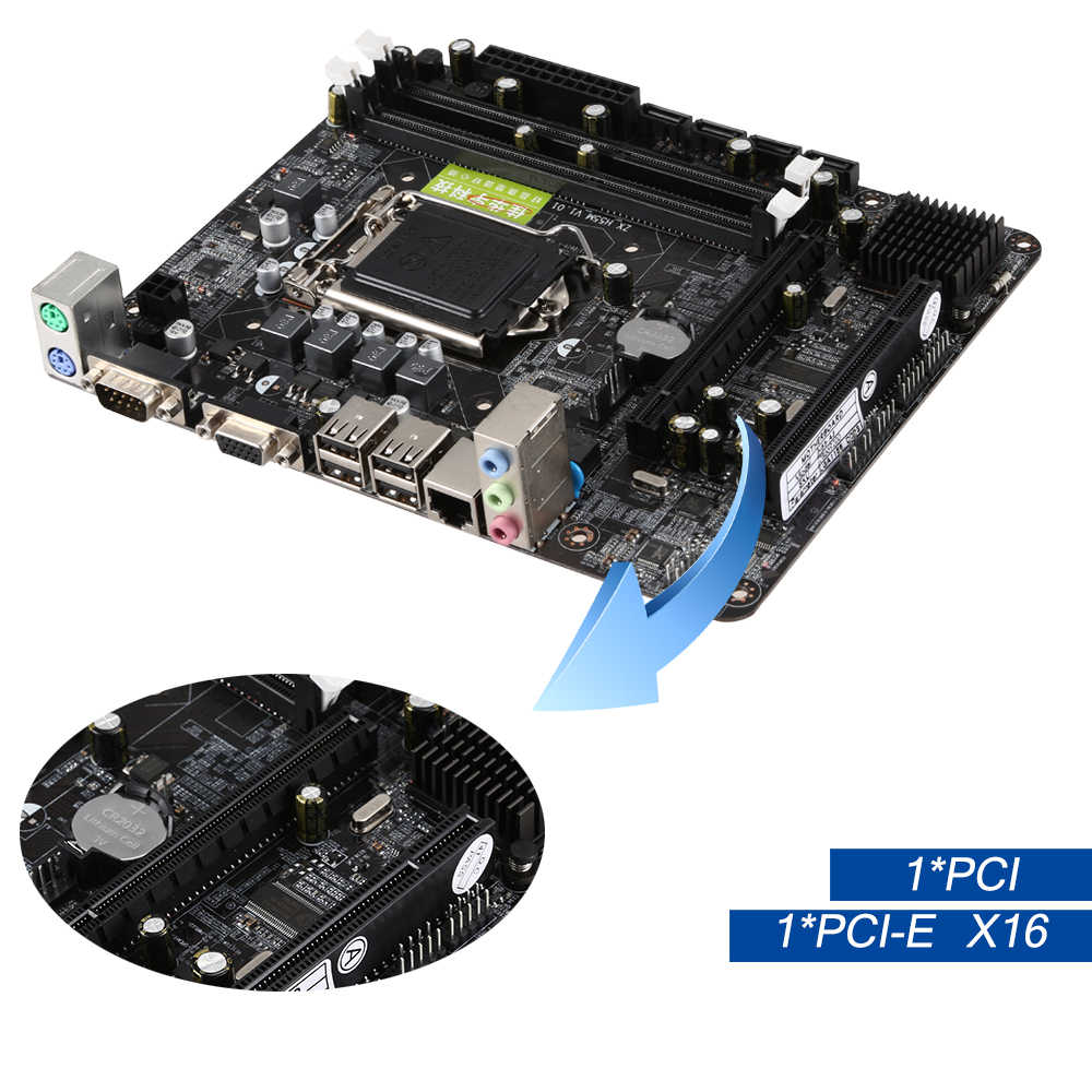216*168 Mm H55 Motherboard LGA 1156 Maksimum 8 GB Motherboard Komputer 2xDDR3 Ram Desktop Buah Mainboard Penyangga Inti i3/I5/I7 + Xeon