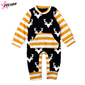 2016 new brand Baby Rompers spring fall Climbing Clothes Newborn Boys Girls Warm jumpsuit Christmas Deer Outwear