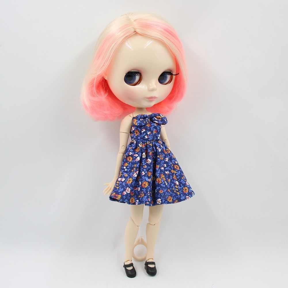 Фабрика blyth кукла 1/6 bjd шарнир тела белая кожа 30 см короткие волосы блонд и розовые волосы кукла без одежды BL1263/340/3139