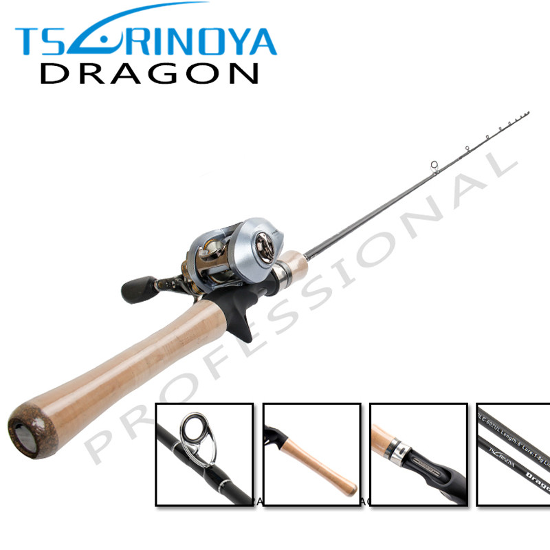 TSURINOYA 1.8m UL 1-8g Baitcasting Fishing Rod Cork Handle SIC Guide Ring Carbon Casting Rods Fishing Pole Fishing Tackle Pesca