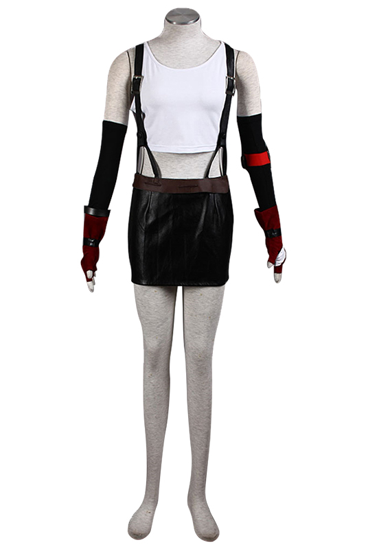 Hot Final Fantasy VII Tifa Cosplay Costume Adult Women Tifa Costume Full Sets Halloween Carnival Costume