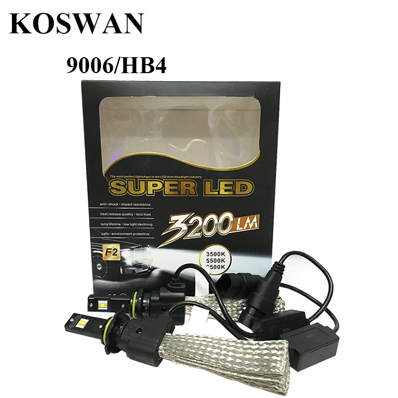 ФОТО 9006 40W LED Car Headlight Kit 3200LM LED Headlight Bulb Kit Super Strong 6500K White Blub 9006 LED Head Lamp Bulb HB4