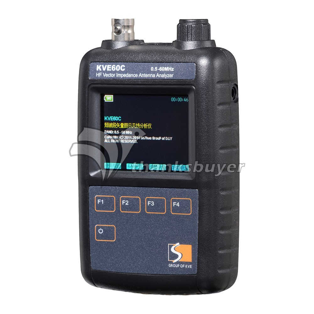 KVE60C HF Vector Color Graphic Impedance Antenna Analyzer 0.5MHz to 60MHz Meter vector js 60 set