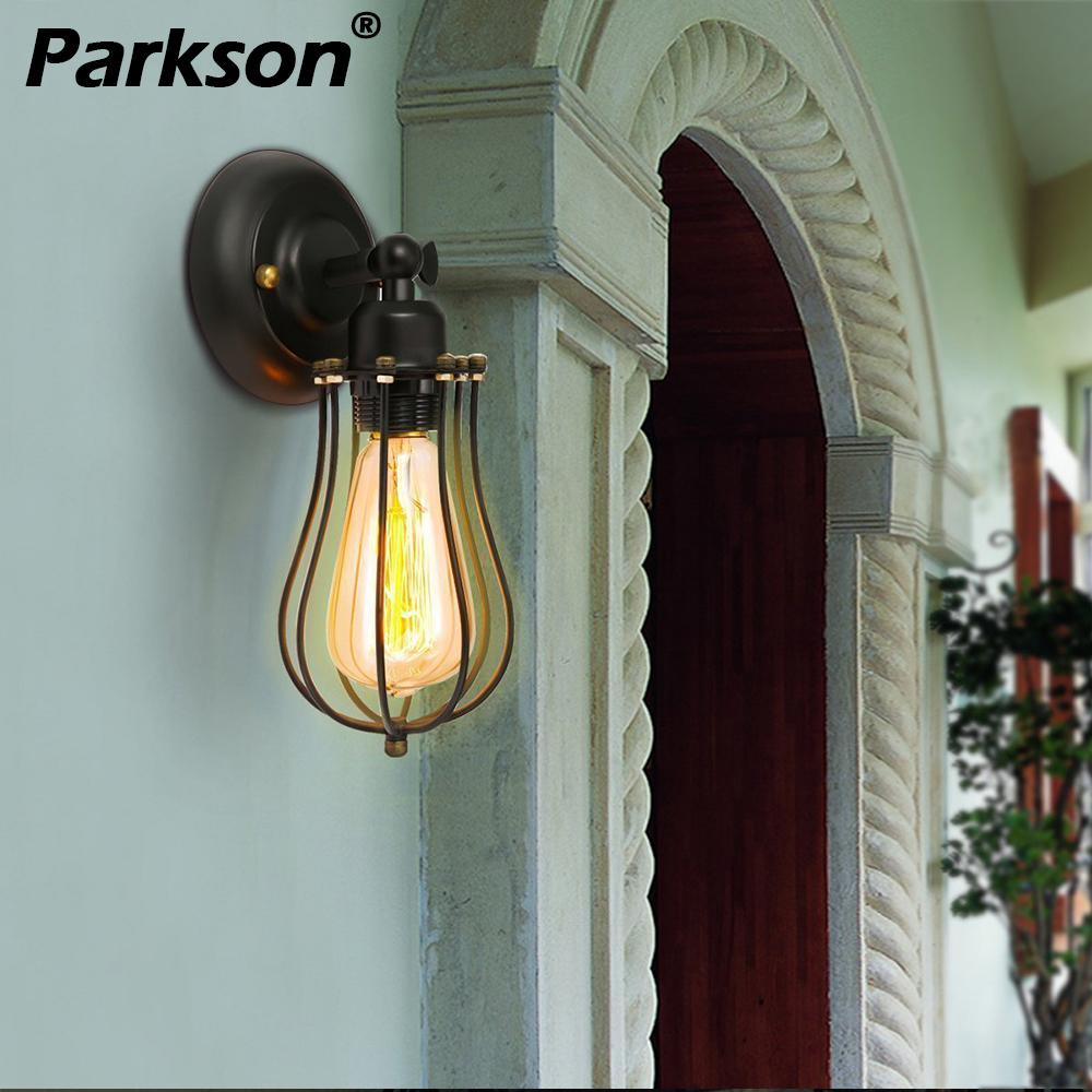Led Indoor Wall Lamps Led Lamps Discreet Edison Antique Wall Lamp Little Gage Loft Style Industrial Retro Wall Lights Fixtures Lampara Pared Led Stair Light