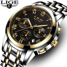 купить LIGE Mens Watches Top Brand Luxury Male Military Sport Luminous Watch men Business quartz-watch Male Clock Man Relogio Masculino дешево