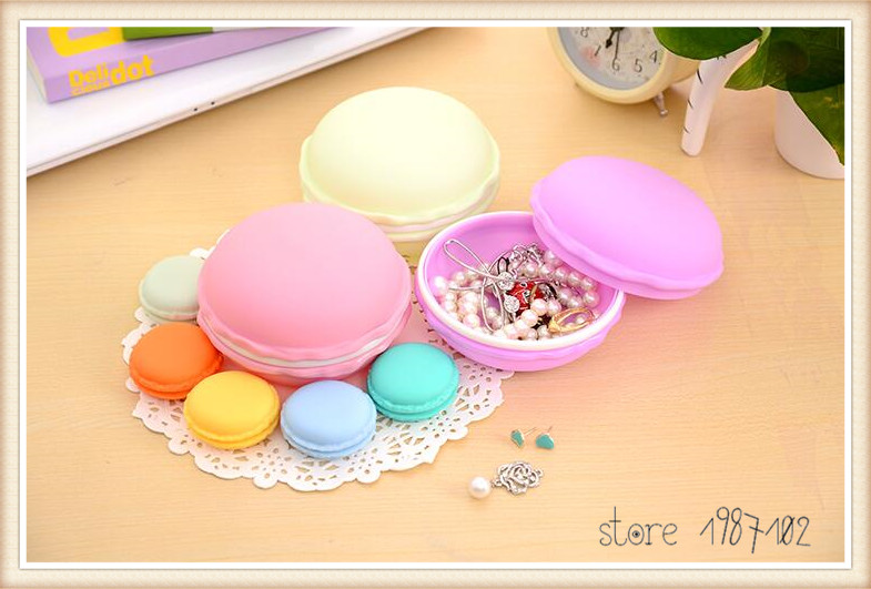 20pcs Mini Earphone Card Macarons Bag Storage Box Case Carrying Pouch Small Pills Jewelry Box Organizing HOT