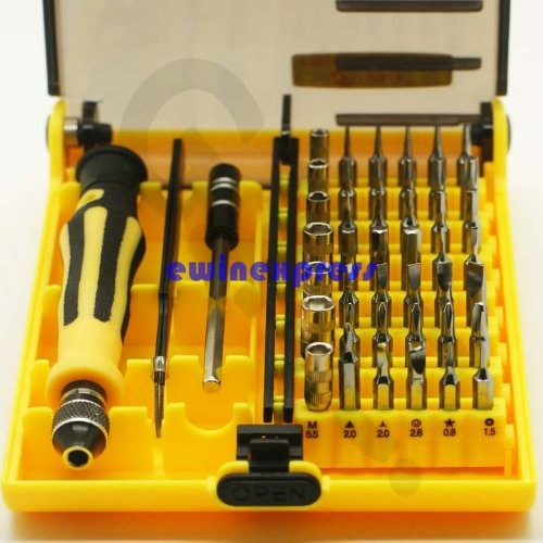 45 in 1 Professional Portable Opening Tool Compact Screwdriver Kit Set with Tweezers & Extension Shaft for Precise Repair or Maintenance  (1)