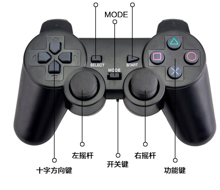 Bluetooth Controller For Android Hot 2.4G Wireless Gamepad PC For PS3 TV Box Joystick 2.4G Joypad Game Controller Remote