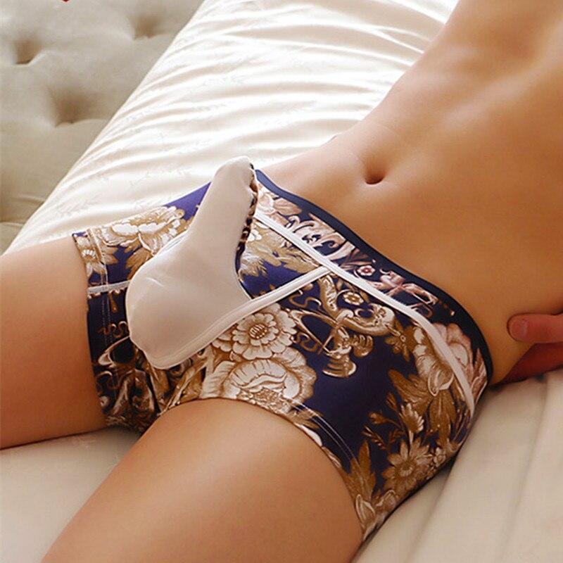New WJ Men' Underwear Boxers  Cotton Print Boxers Man Underwear Male Bulge Elephant Penis Pouch Boxers Shorts